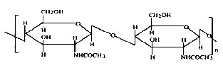 image of Chemical structure of chitin